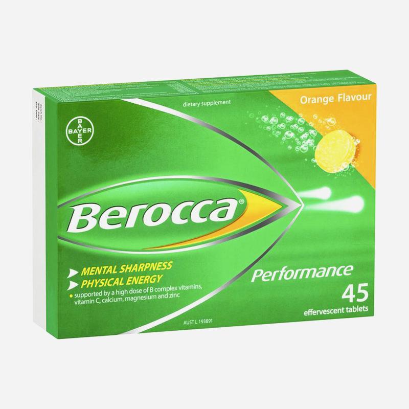 Berocca Effervescent Performance Orange 45 Tablets