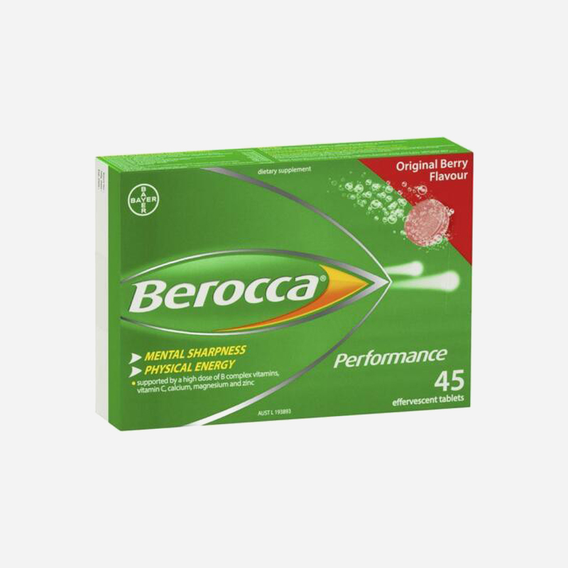 Berocca Performance 45 Effervescent Tablets Original