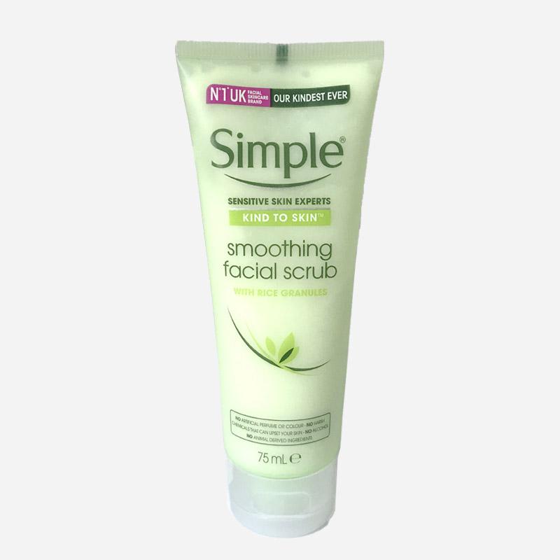 Simple smoothing facial scrub 75ml