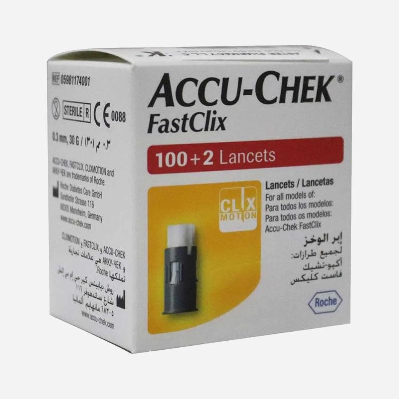 accu-chek fastclix 102 pack