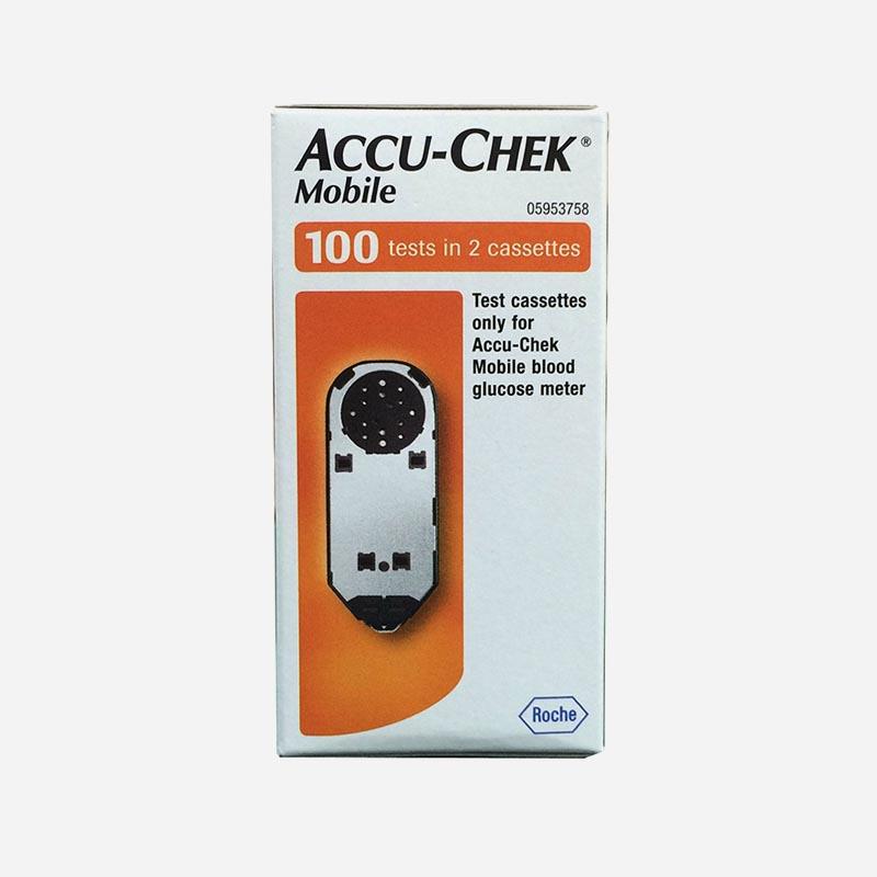 accu-chek mobile 100 test in 2 casettes