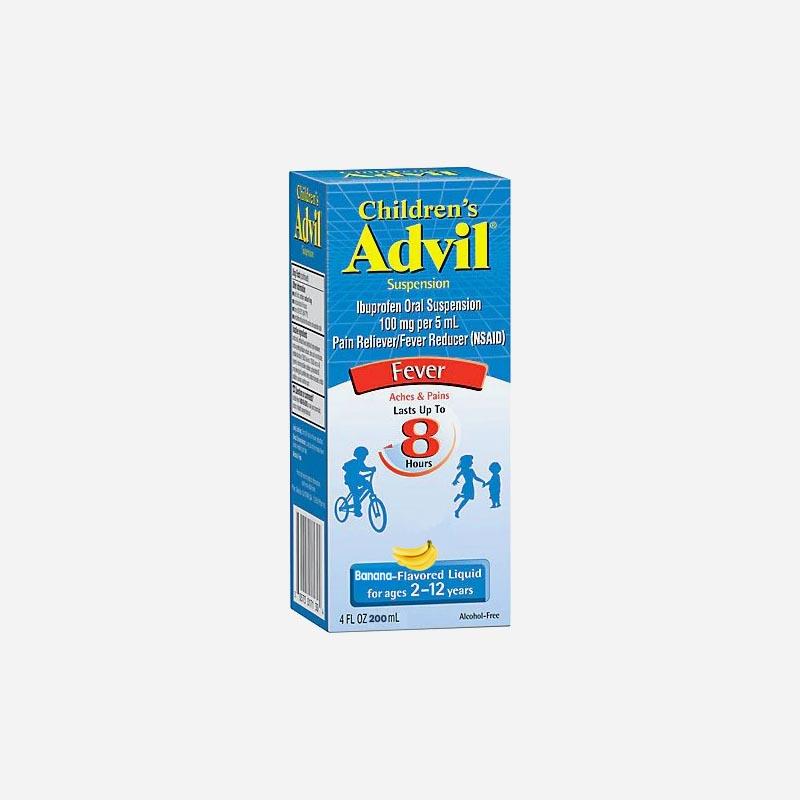 advil children 2 -12 years 200ml banana flavour