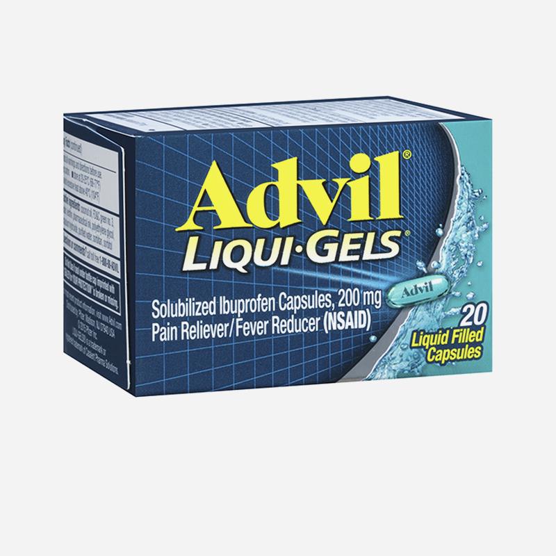 advil liquid capsules 200mg 20
