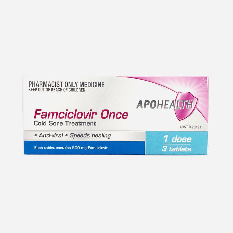 apo health famciclovir once 500mg 3 tablets