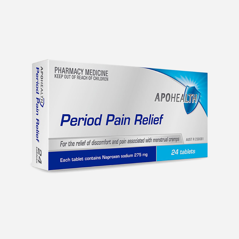 apo health period pain relief 24 tablets