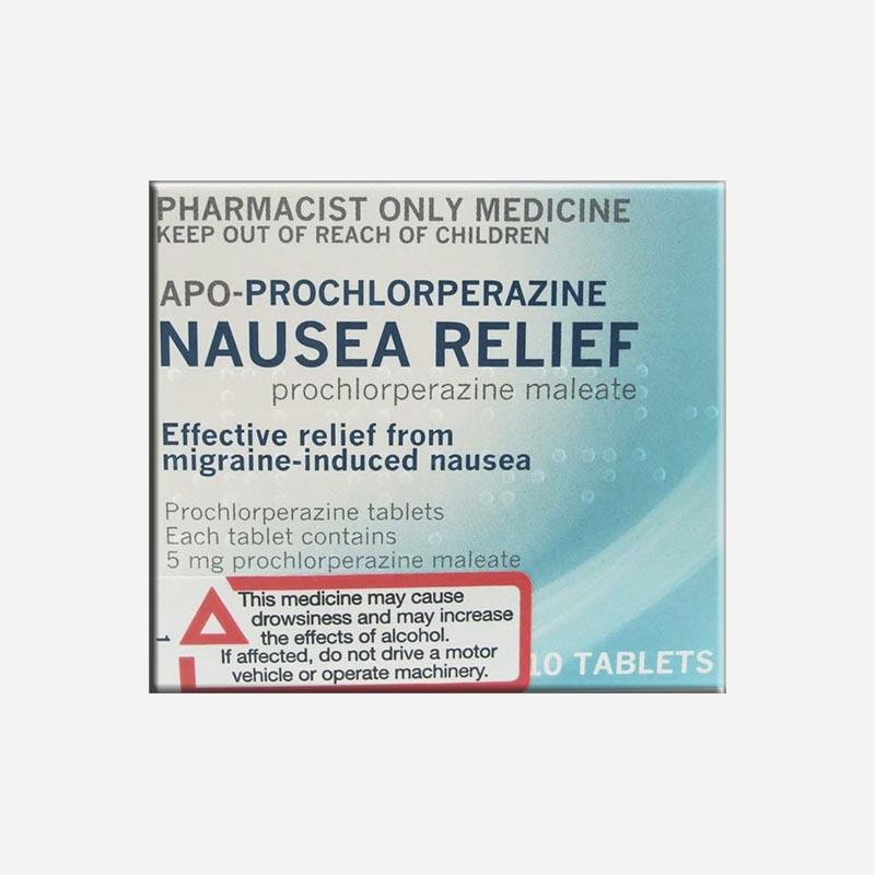Apo Health Prochlorperazine Tablets Nausea Relief 10 Tablets