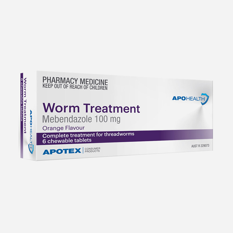 apo health worm treatment 6 chewable tablets