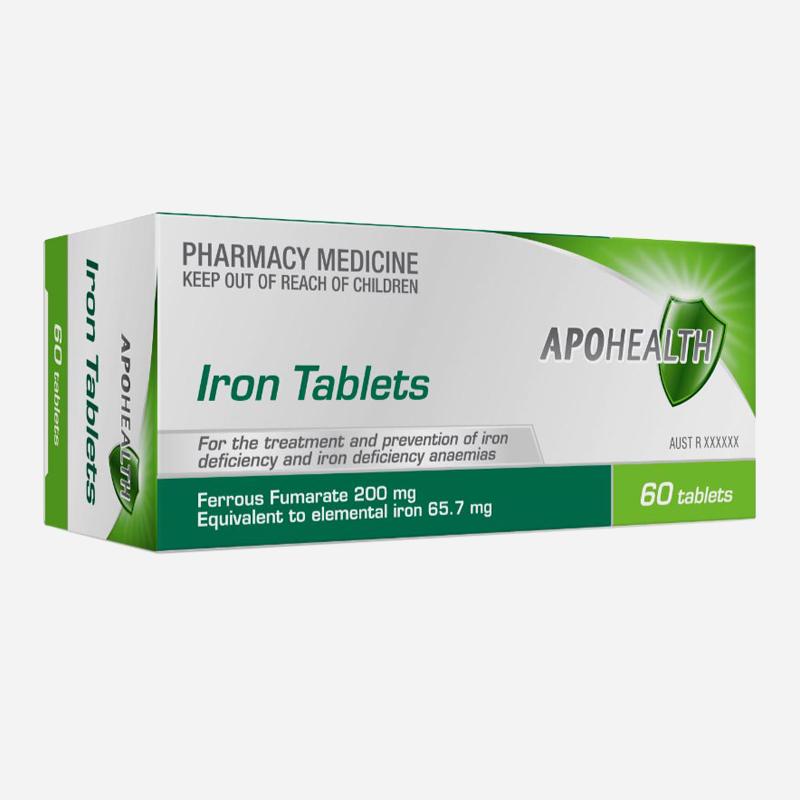 Apohealth Iron Tablets 60