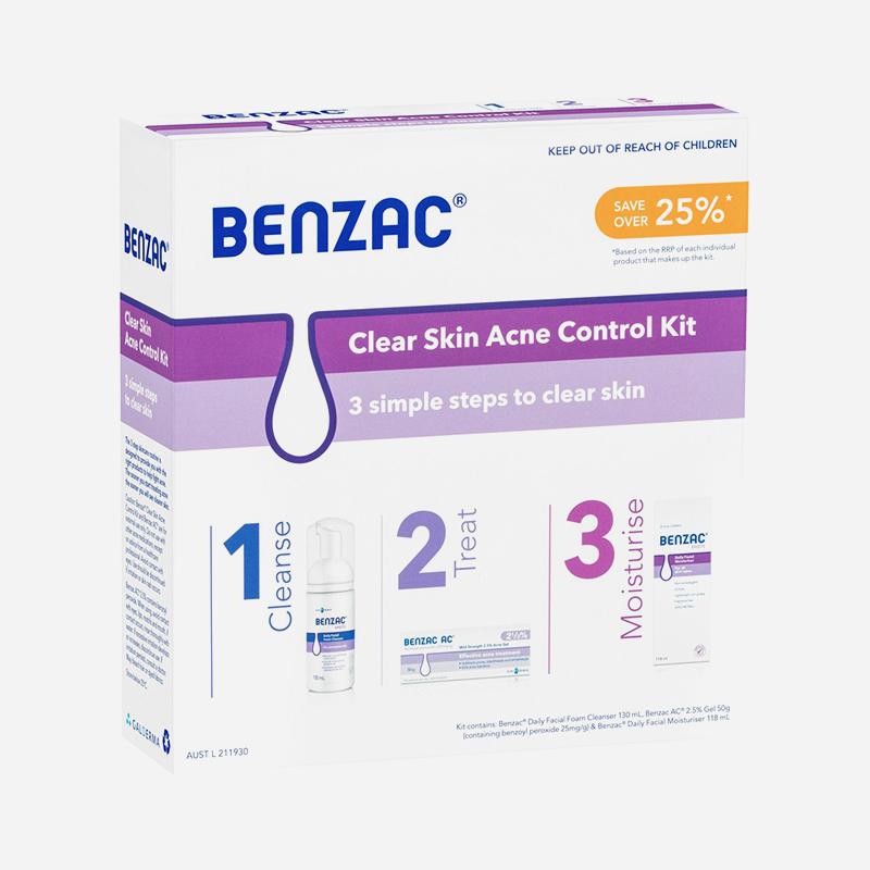 benzac acne control kit 3 steps