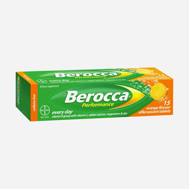 berocca performance orange effervescent tablets 15