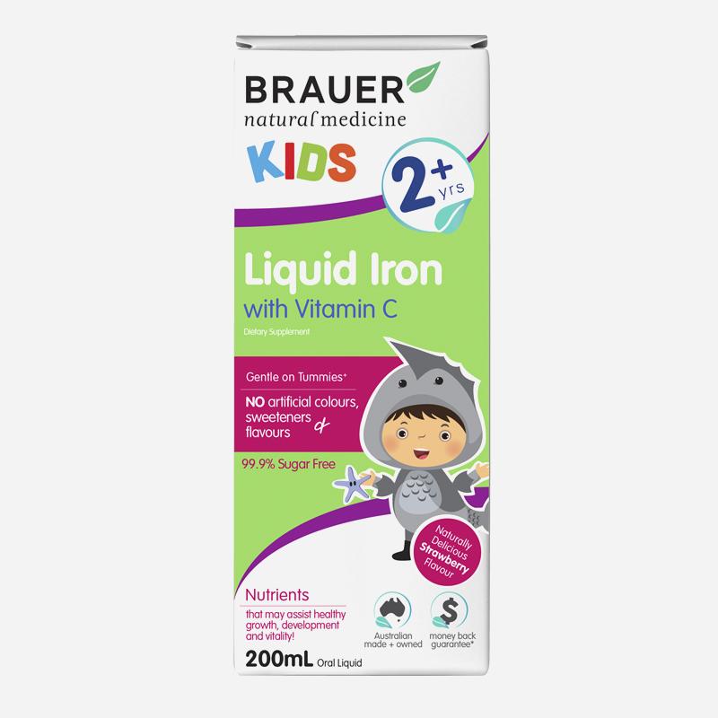 brauer kids liquid iron with Vitamins c 2 years + 200ml