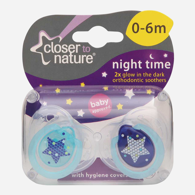 closer to nature night time soother 0-6 months