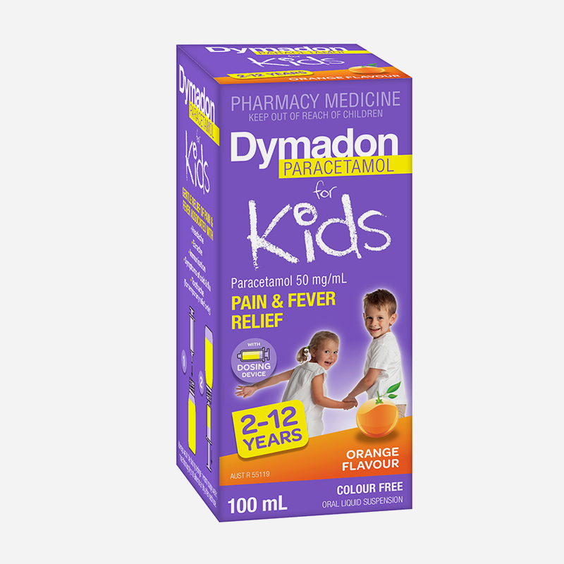 dymadon for kids 2 years to 12 years orange flavour 100ml