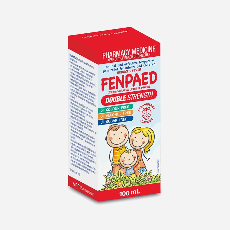 fenpaed double strength ibuprofen suspension 200mg 5ml 100ml