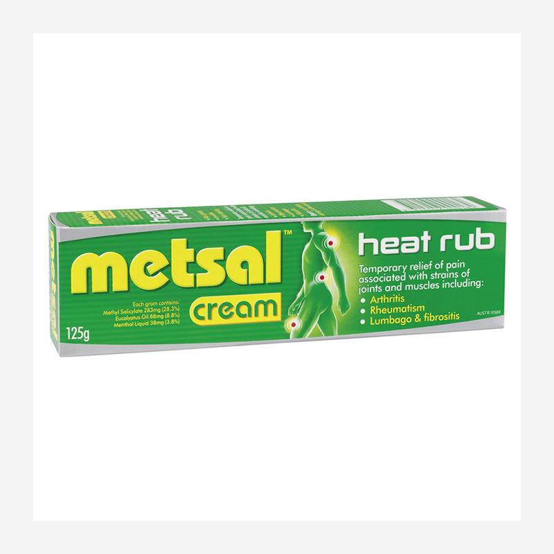 metsal heat rub cream 125g
