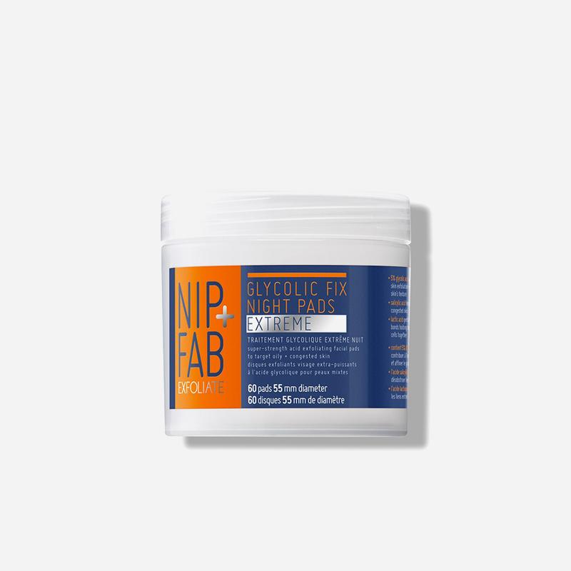 nip + fab glycolic night pads extreme 60 pads