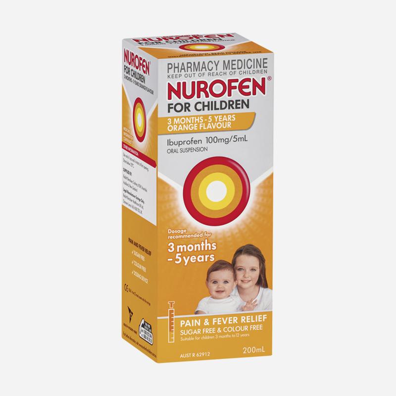 nurofen for children 3 months to 5 years orange 200ml