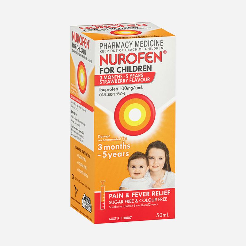 nurofen for children 3 months to 5 years strawberry 50ml