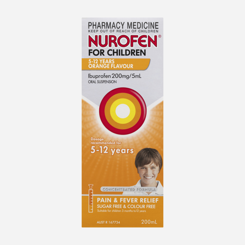 nurofen for children 5-12 years orange 200ml