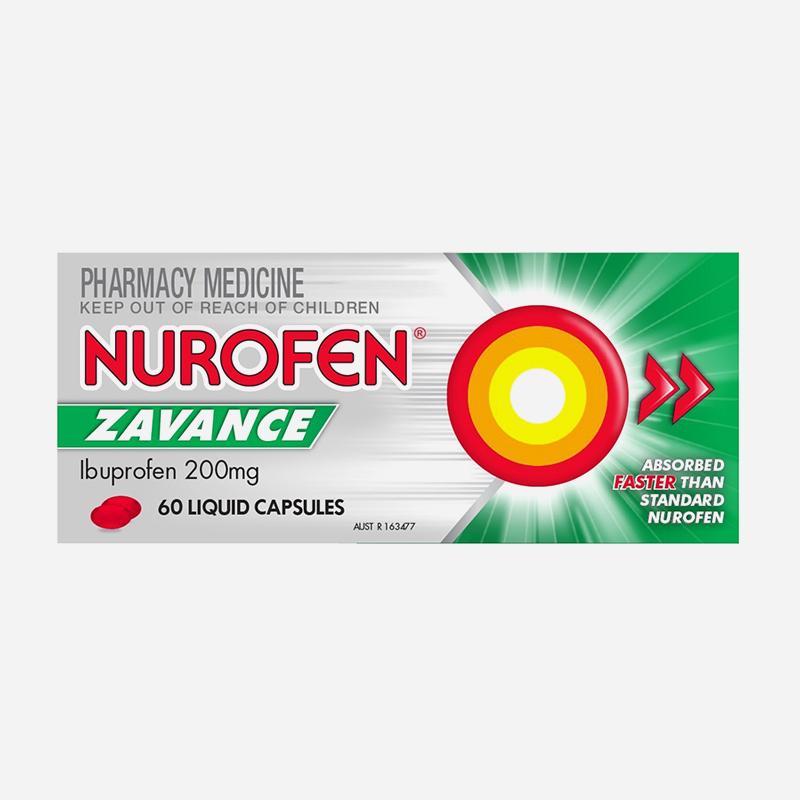 nurofen zavance 200mg liquid capsules 60