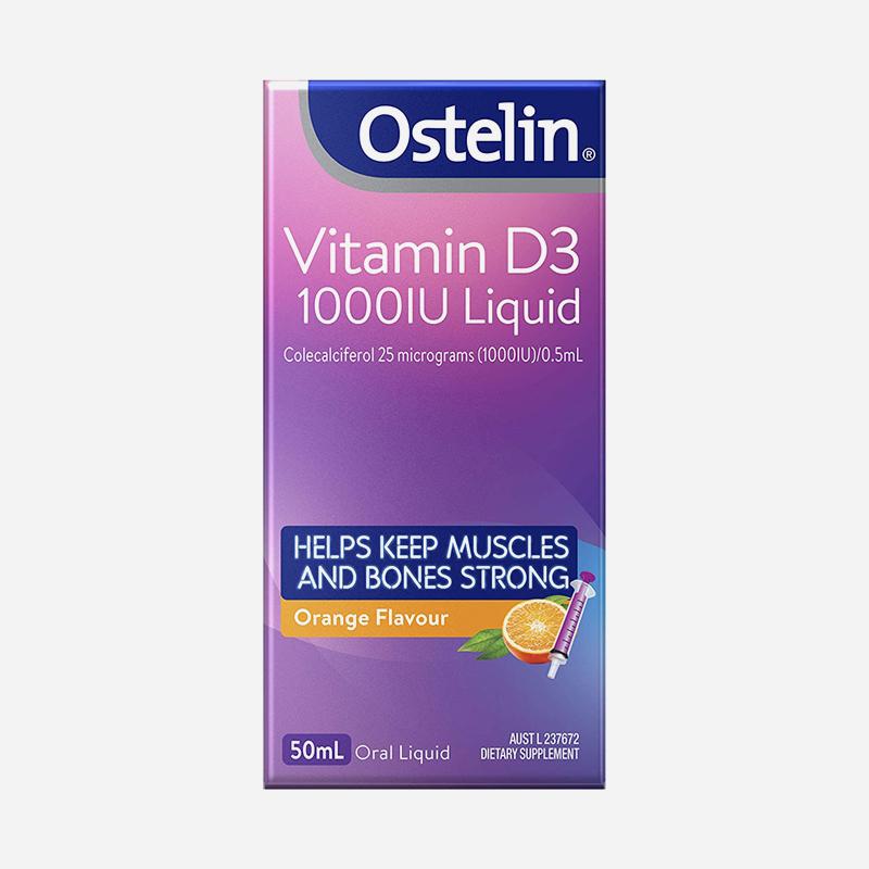 ostelin Vitamins d3 1000iu 50ml liquid