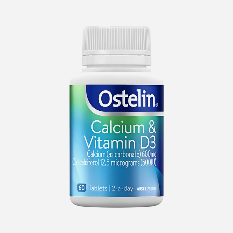 ostelin calcium and Vitamins d3 chewable 60 tablets
