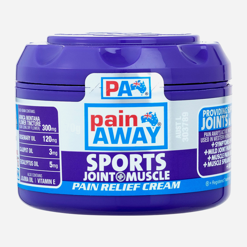 pain away sports, joint and muscle cream 70g
