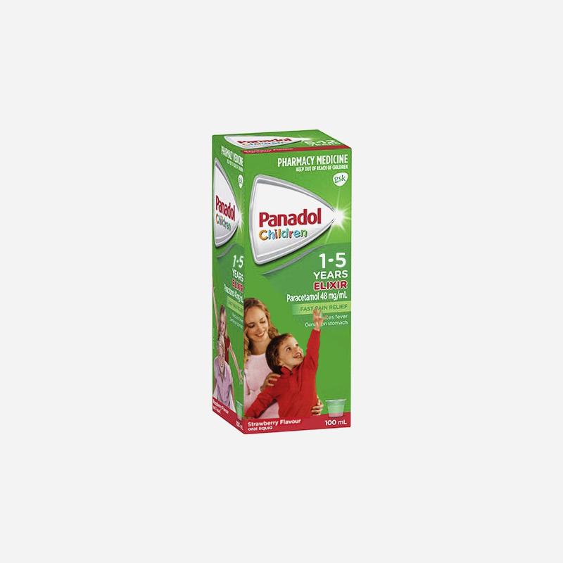 panadol 1-5 years elixir strwberry 100ml