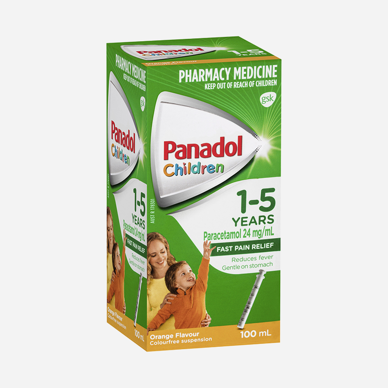panadol 1-5 years orange 100ml