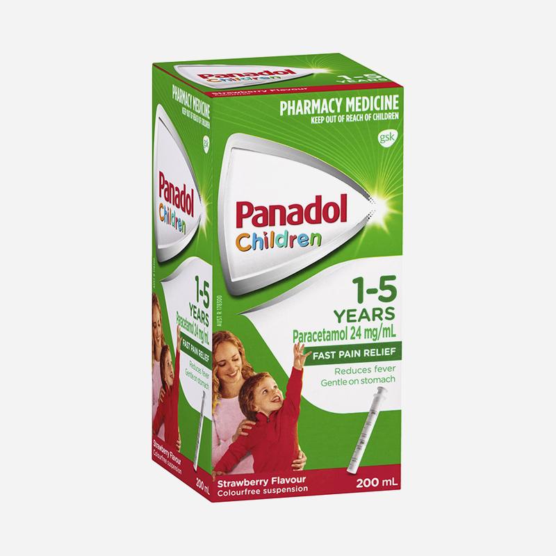 panadol 1-5 years strawberry 200ml