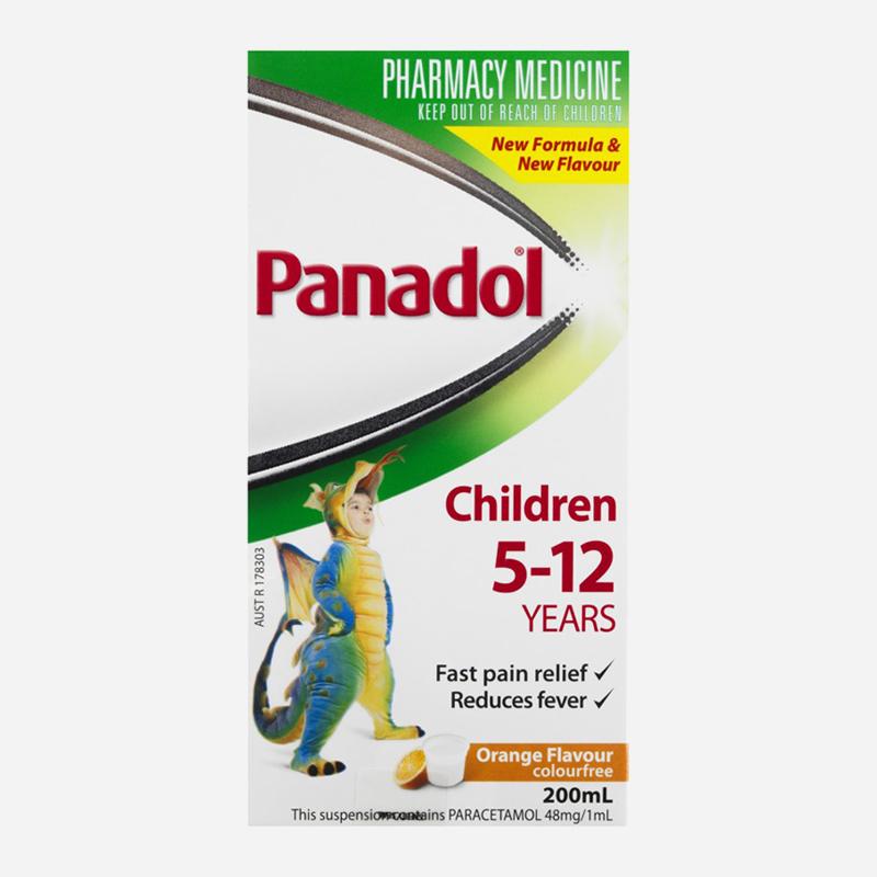 panadol 5-12 years orange 200ml