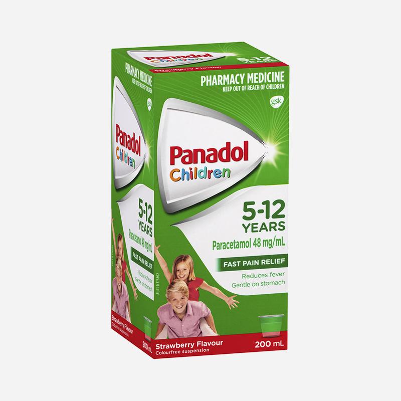panadol 5-12 years strawberry 200ml