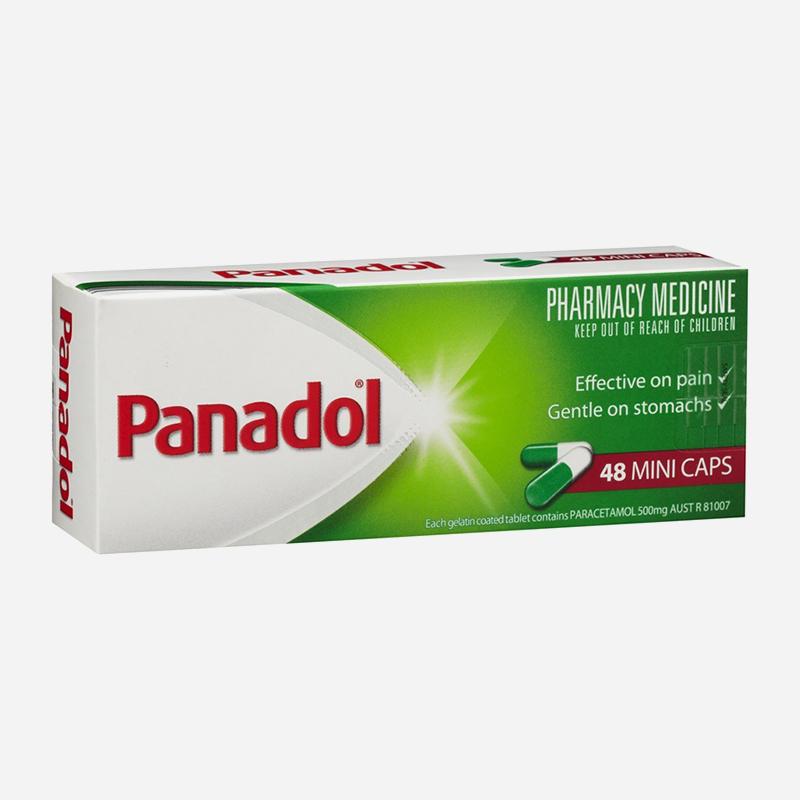 panadol 500mg mini capsules 48 pack
