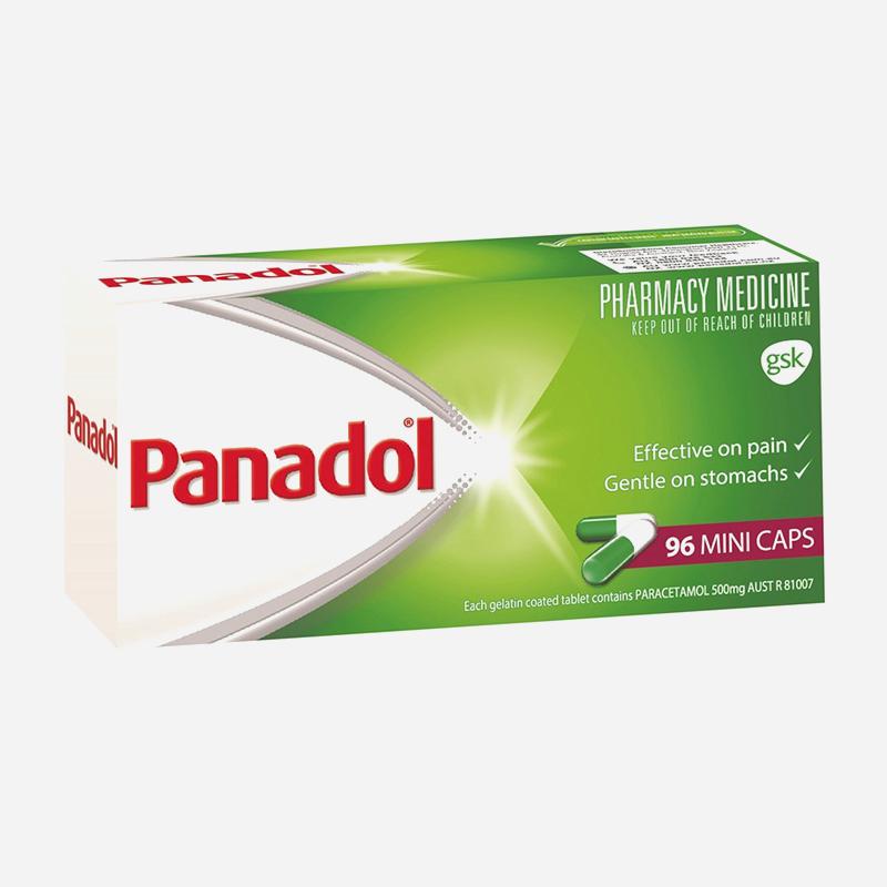 panadol 500mg mini capsules 96 pack