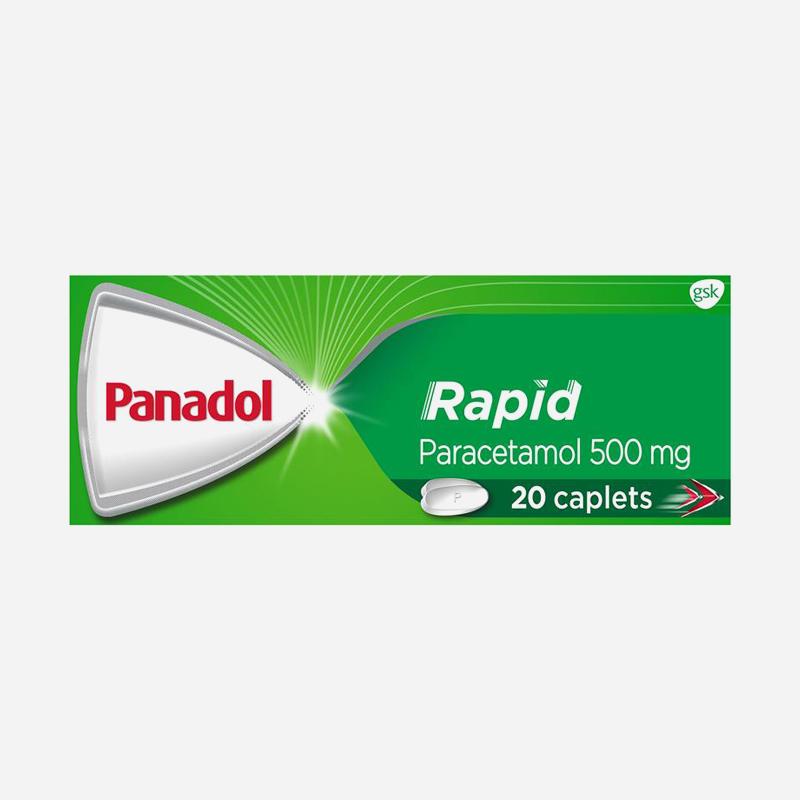 panadol rapid 500mg caplets 20