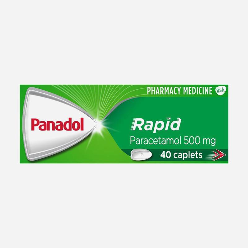 panadol rapid 500mg caplets 40