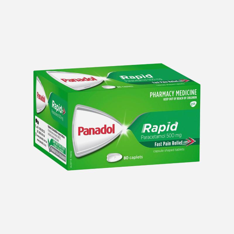 panadol rapid 500mg caplets 80