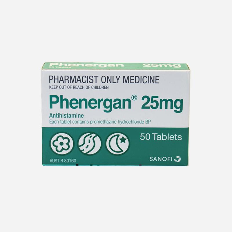 phenergan 25mg 50 tablets