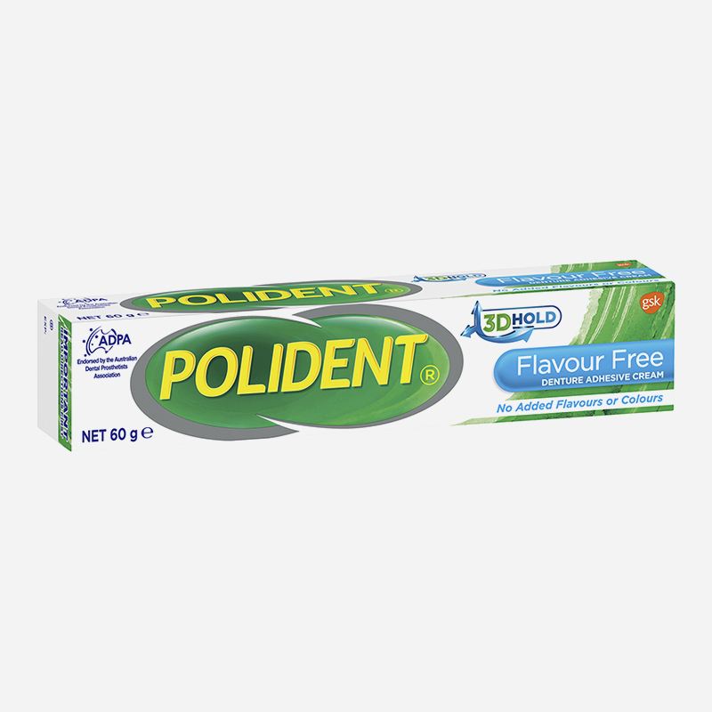 polident denture adhesive flavour free 60g
