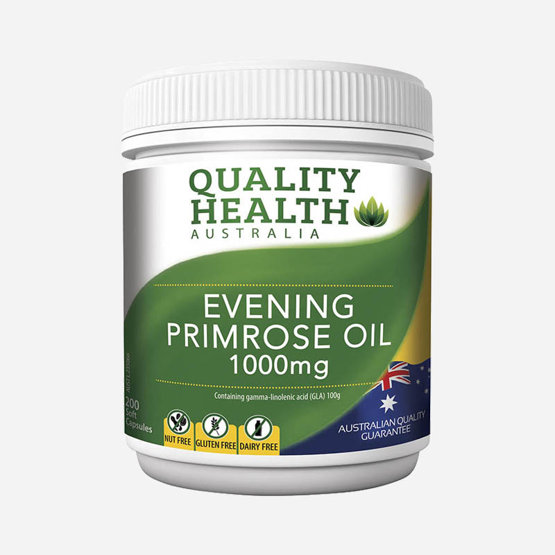 Quality Health Evening Primrose Oil 1000mg 200 Capsules