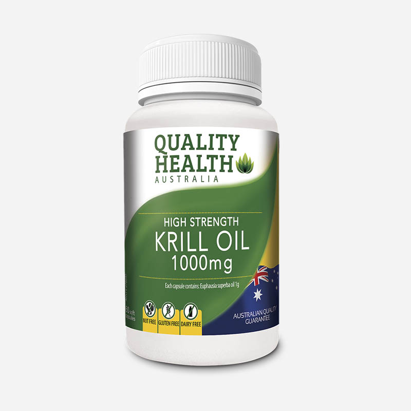 quality health high strength krill oil 1000mg 60 capsules