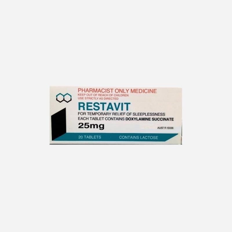 restavit 25mg 20 tablets