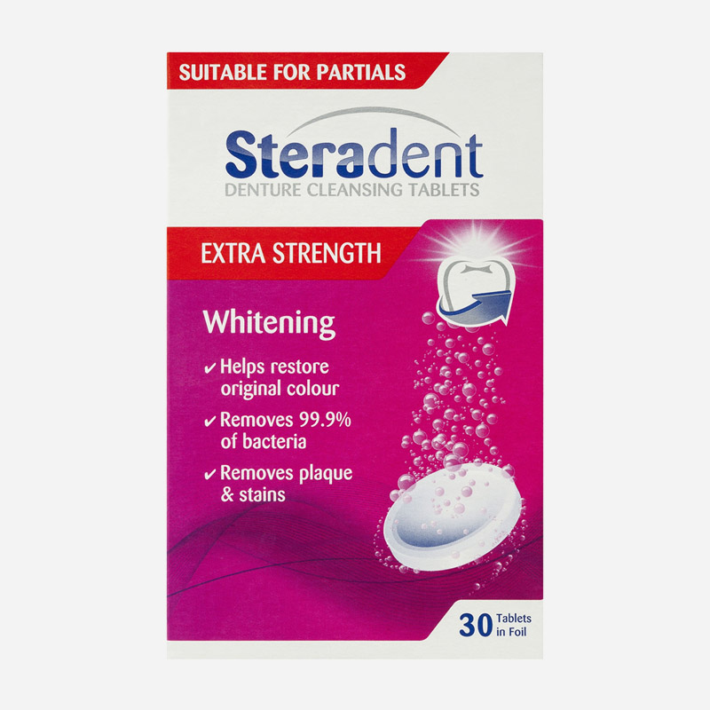 steradent denture cleansing tablets extra strength 30