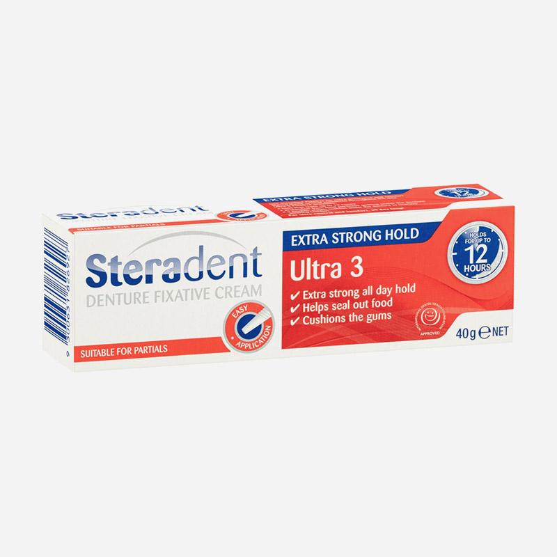 steradent denture cream ultra 3 40g