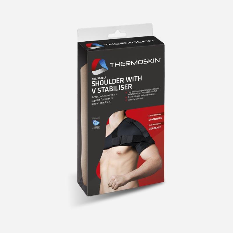 thermoskin adjustable shoulder support with V stabiliser one size