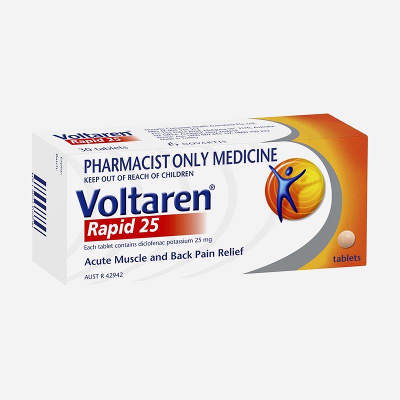 voltaren rapid 25mg 10 tablets