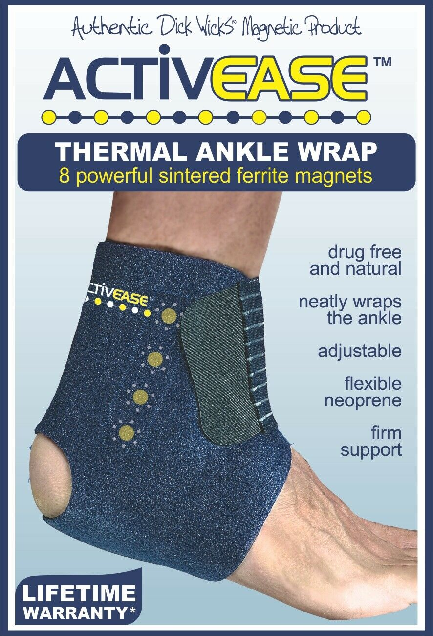Dick Wicks Activease Thermal Ankle Support Magnetic Therapy Pain Relief