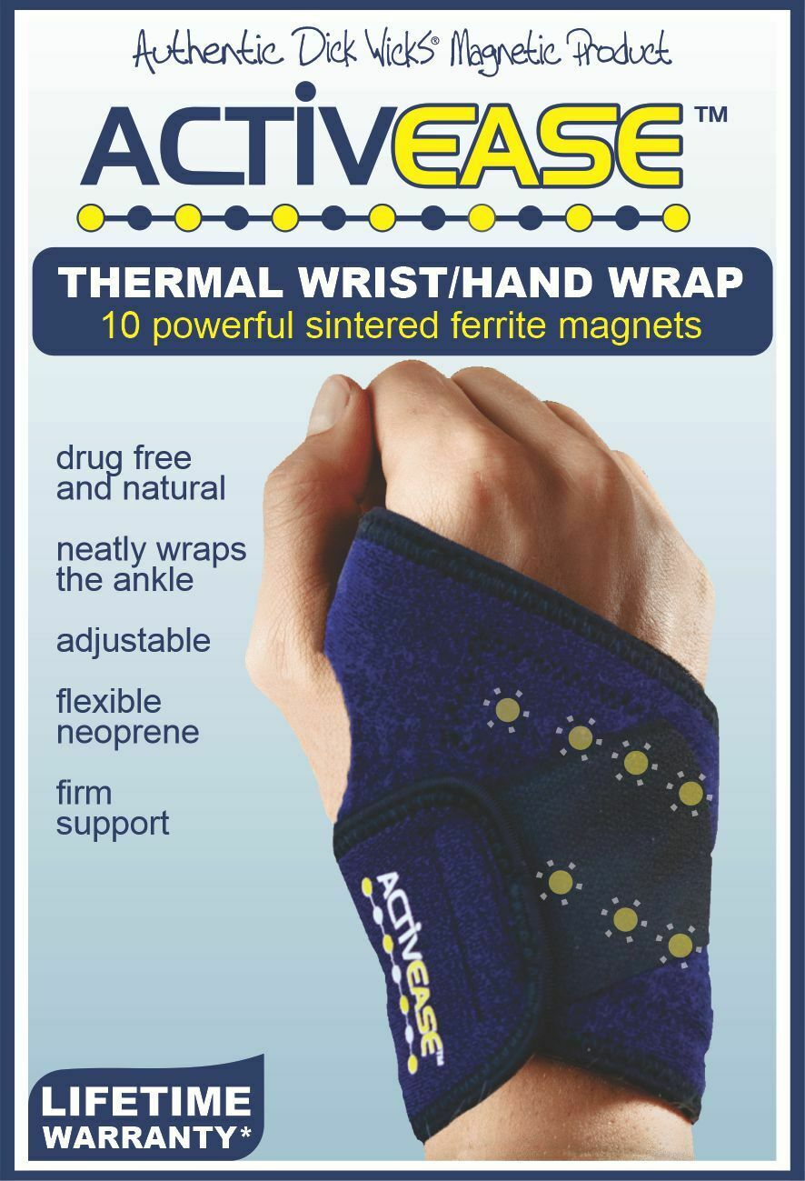 Dick Wicks Activease Thermal Wrist Hand Wrap with Magnets