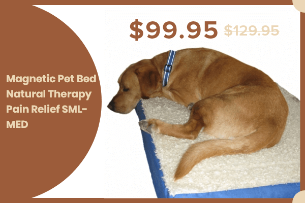 MAGNETIC PET BED NATURAL THERAPY PAIN RELIEF SML- MED