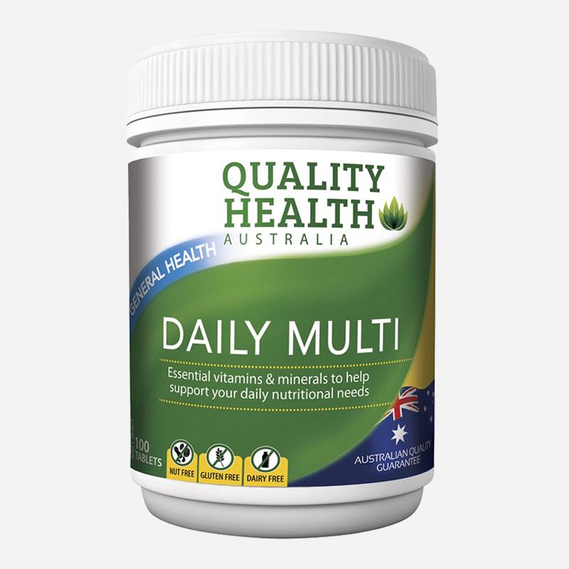 Quality Health Daily Multi Vitamins 100 Tablets